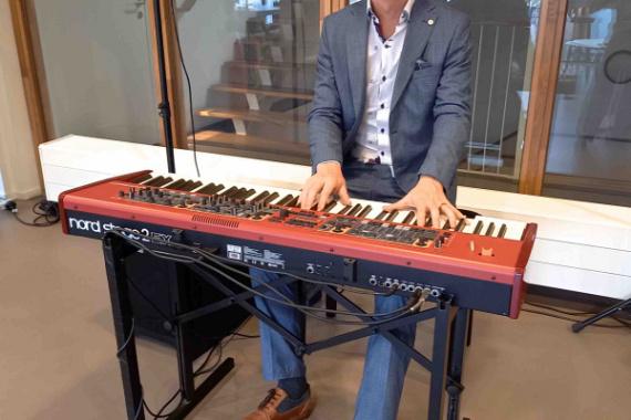 Achtergrond pianist